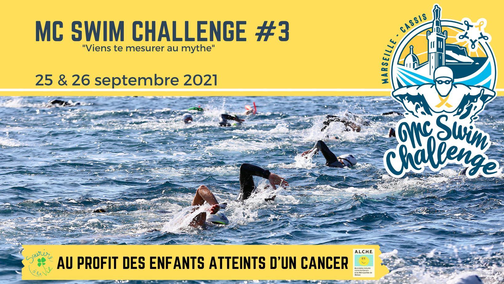 Déplacement Christophe MC Swim Challenge